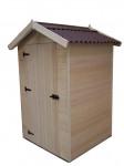 Abri Panneau bois massif avec plancher / 16 mm /  2,03 m2 / toiture plaques ondulées plus grande longévité