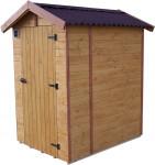 Abri WC bois massif avec plancher / Panneau 16 mm / 2,03 m2 / toiture plaques ondulées