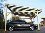 Carport monopente avec préparation pour couverture légère / 3,90 x 5,86 m